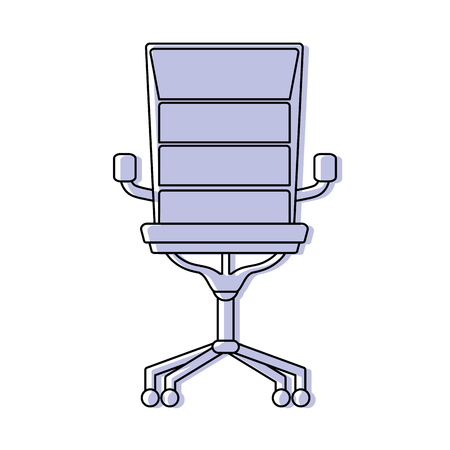Color chair office style object design vector illustration Vectores