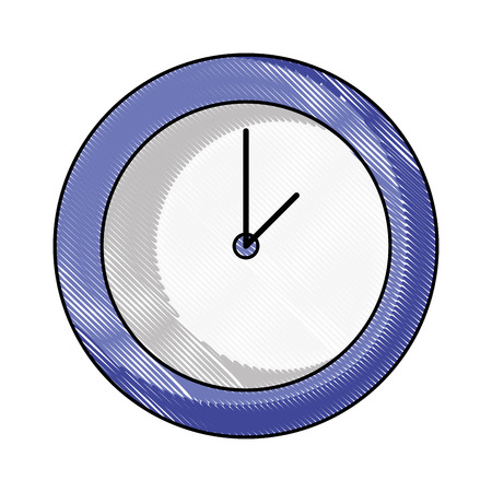 grated circle wall clock time object vector illustration Illusztráció