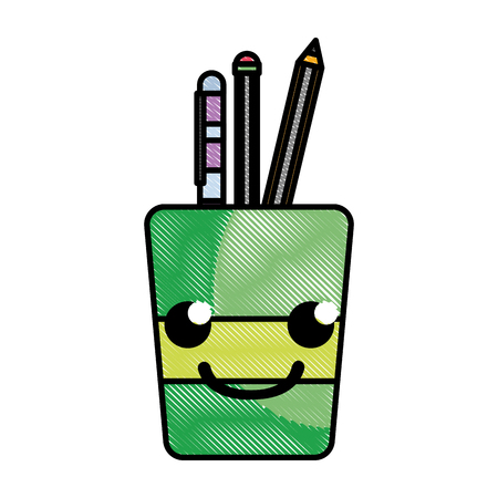 grated smile tools cup cartoon