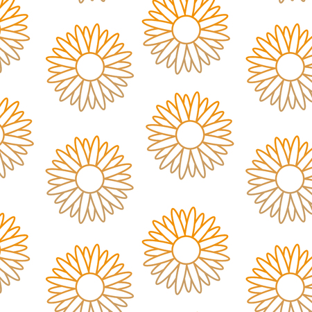 Sunflower of garden floral and nature theme Isolated design Vector illustration Illustration