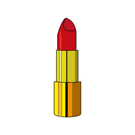 Lipstick of make up accesories and cosmetic theme Isolated design Vector illustration