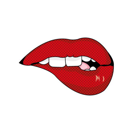 Mouth cartoon of lips expression and caricature theme Isolated design Vector illustration