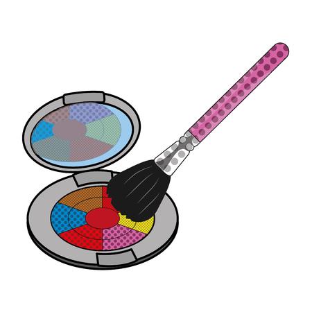 poudre de maquillage accessoires et cosmétiques thème isolé illustration vectorielle Vecteurs