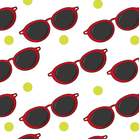 Glasses background of fashion style and accessory theme Isolated design Vector illustration