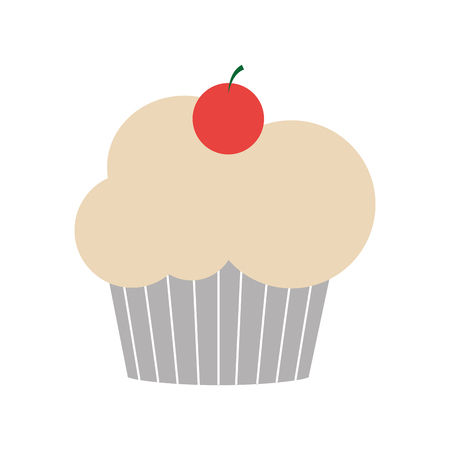 Cupcake of dessert sweet and bakery theme Isolated design Vector illustration