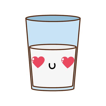 Milk of liquid drink beverage and breakfast theme isolated design vector illustration