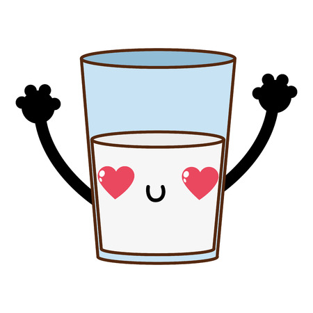 Milk of liquid drink beverage and breakfast theme Isolated design Vector illustration.