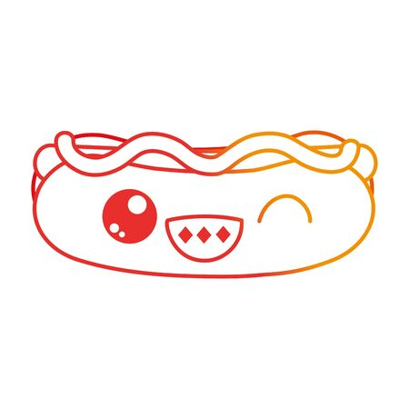 Hot dog of fast food urban and tasty menu theme. Isolated design vector illustration.
