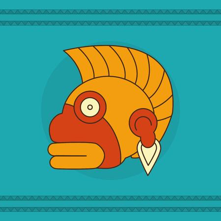 Maya face design illustration.