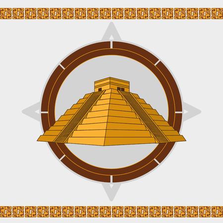 Maya culture design illustration.