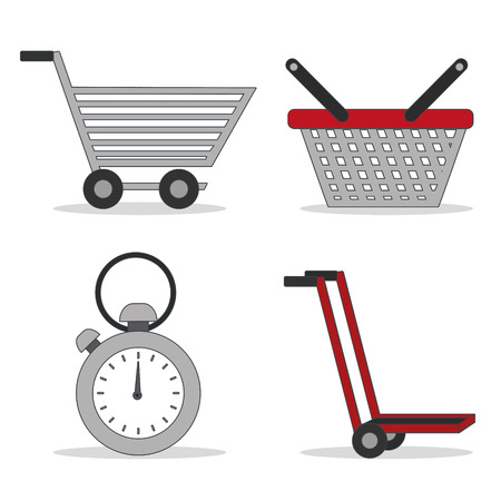 Icon set of delivery shipping and logistics theme Vector illustration