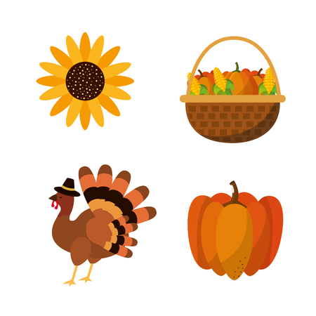 Happy thanksgiving day design Illustration