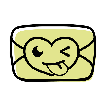 color funny love card kawaii cartoon