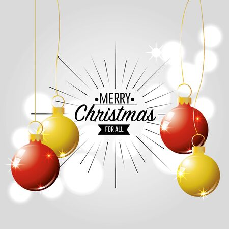 merry christmas card decoration design vector illustration Illustration