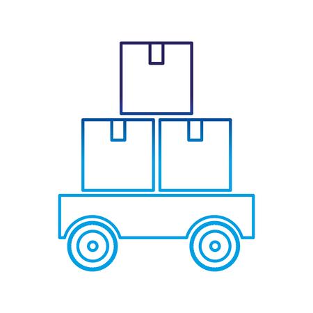 Isolated box design Vectores