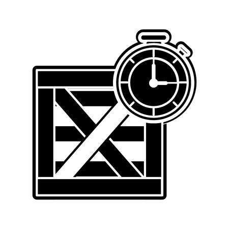 Box and chronometer design Vectores