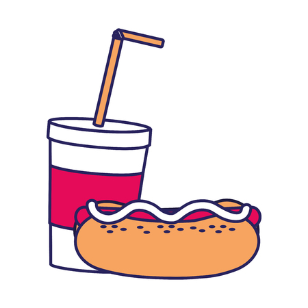 Hot dog and drink icon