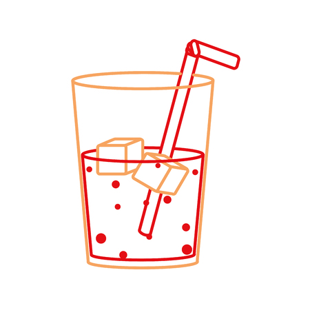 Glass of beverage with ice. Фото со стока - 93520648