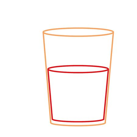 Glass of beverage isolated design vector illustration