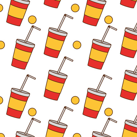 Soda of drink beverage and cola theme Isolated design Vector illustration