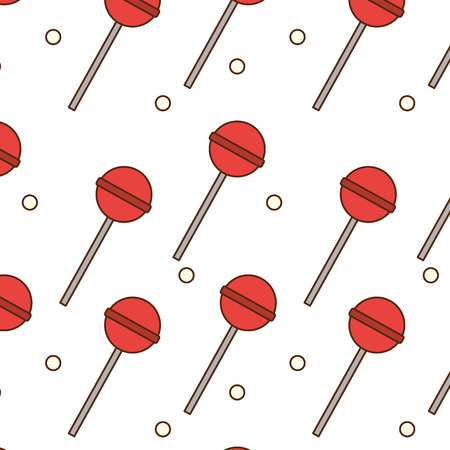 Lolly pop background of candy sweet sugar and caramel theme Isolated design Vector illustration Illustration
