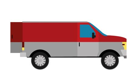 Isolated truck design Vector illustration.