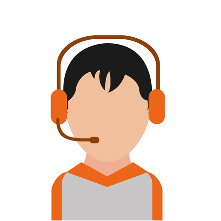 Call center man design Vector illustration.
