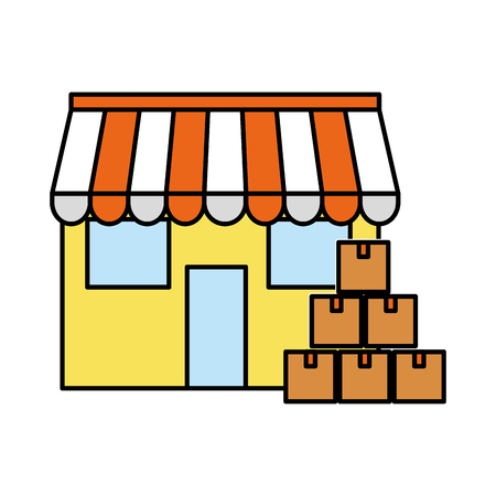 Boxes and store  design