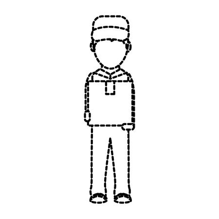 Box and man design Vector illustration.