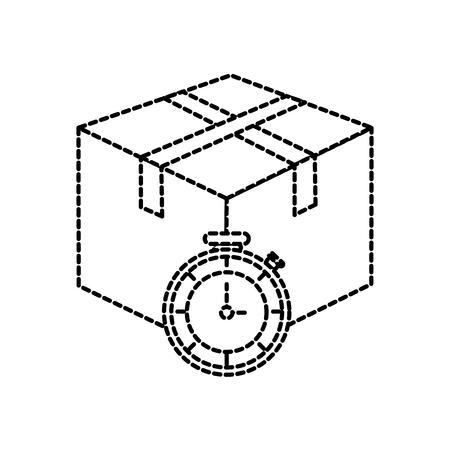 Box and chronometer design dotted illustration