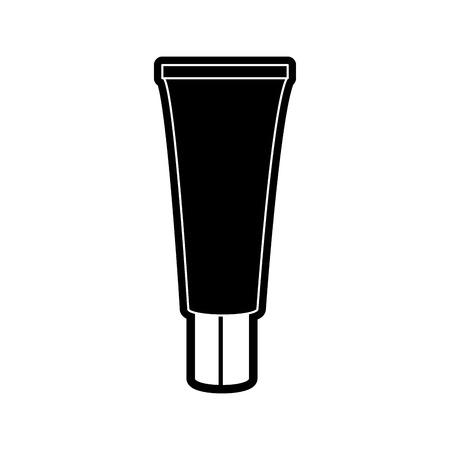 メイクアップアクセサリーや化粧品のテーマのクリーム絶縁デザインベクトルイラスト