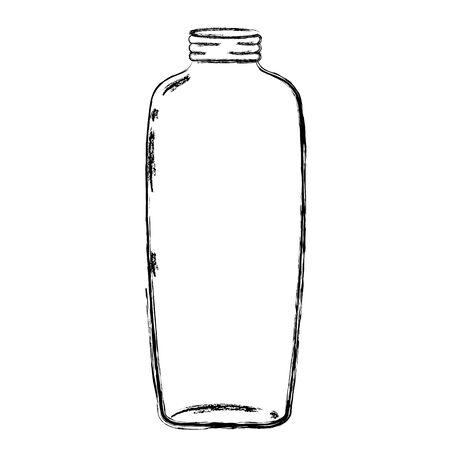 grunge long mason glass preserve art vector illustration