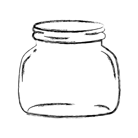 grunge small and wide mason glass preserve vector illustration 向量圖像