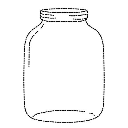 dotted shape long and wide mason glass preserve Ilustração