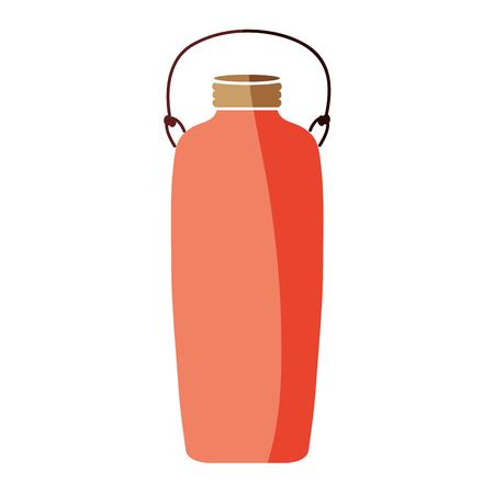 colorful long mason glass with wire handle vector illustration Ilustração