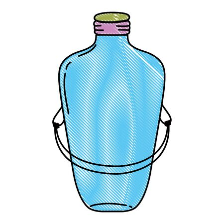 grated long mason jar with wire handle design vector illustration