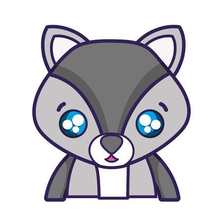 Surprised fox adorable wild animal