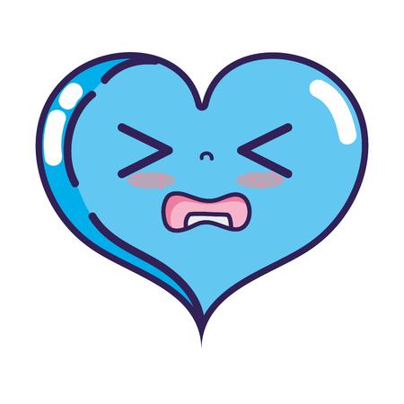 Gaudy heart love cartoon vector illustration.