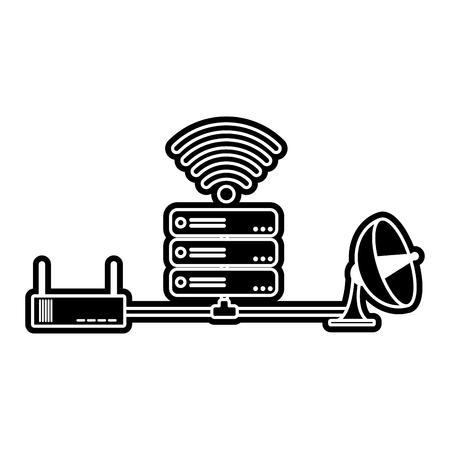 Web hosting design Illustration