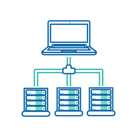 Web hosting of data center and base theme Isolated design Vector illustration.