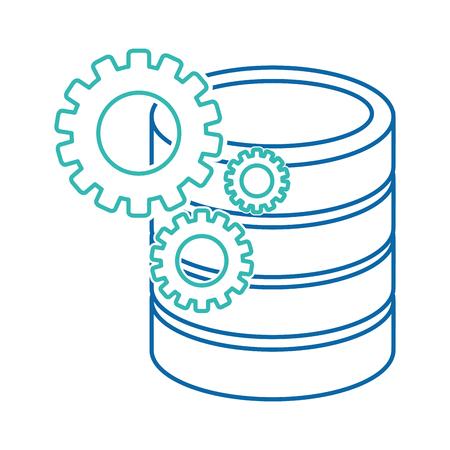Web hosting design. Illusztráció