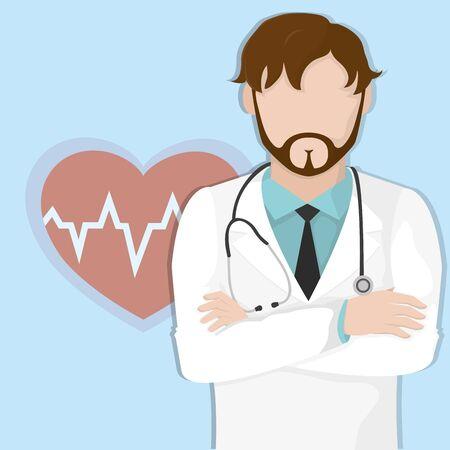 Doctors day design. Illustration