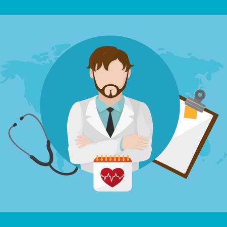 Doctors day design illustration.