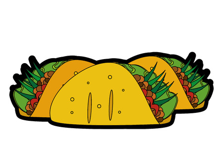 Isolated burrito design Vector illustration. Illustration