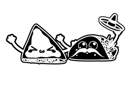 Quesadilla and burrito design Vector illustration.