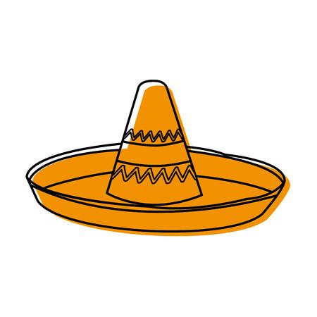 Mexican hat design Vector illustration.