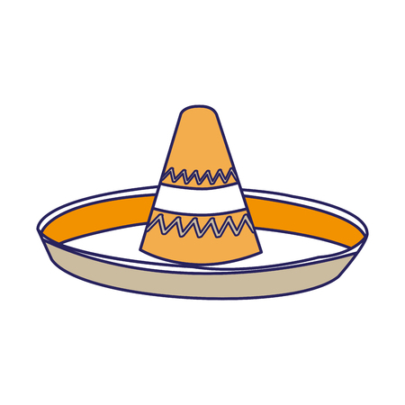 Mexican hat of cloth costume accessory and wear theme Isolated design Vector illustration