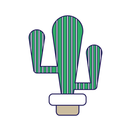 Cactus of plant desert and nature theme isolated design vector illustration.