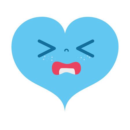 Colorful gaudy heart love cartoon