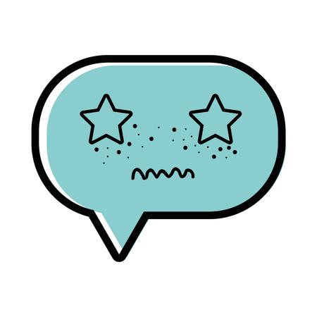 color unpleasant chat bubble cartoon